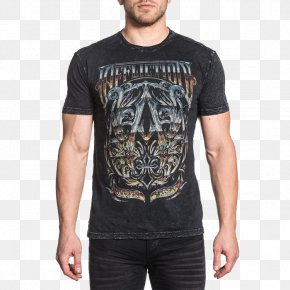 T-shirt - T-shirt Affliction Clothing Sleeve Top PNG