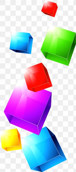Colorful Cube PNG