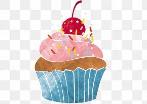 Hand-painted Strawberry Chocolate Cherry Cake - Cupcake Cherry Cake Muffin Dessert PNG