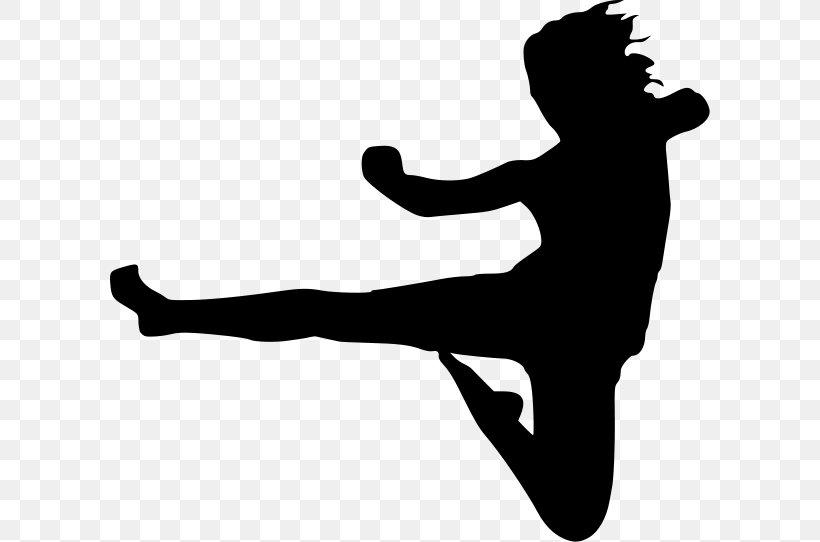 Karate Flying Kick Martial Arts Clip Art Png 600x542px Karate Arm Black And White Black Belt