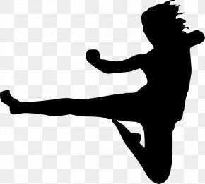 Karate Cliparts - Karate Flying Kick Martial Arts Clip Art PNG