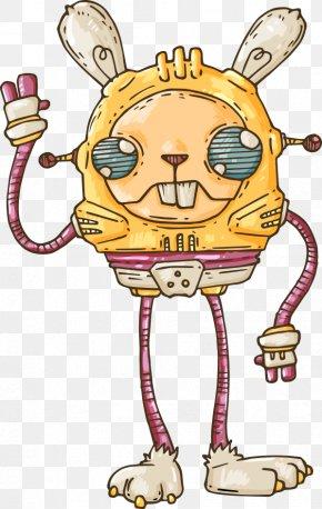Vector Rabbit Robot - Robot Euclidean Vector Cartoon Illustration PNG