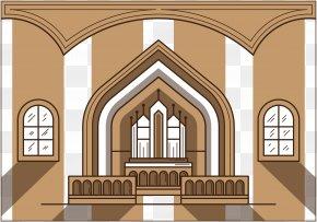 Vector Illustration Church Altar - Altar In The Catholic Church Illustration PNG