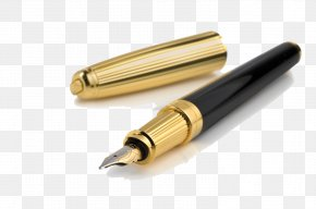 Pen Clipart - Fountain Pen Ink Ballpoint Pen Paper PNG