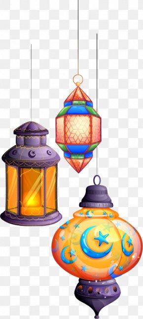 Vector Five Color Fantasy Light Chandelier - Eid Al-Fitr Eid Mubarak Eid Al-Adha PNG