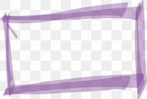 Purple Mark Pen Rectangle Box - Rectangle PNG