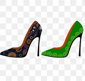 High-heeled Shoes Vector - High-heeled Footwear Shoe Clip Art PNG