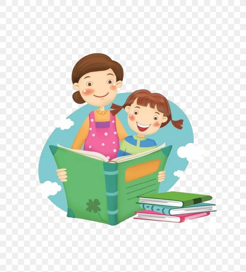 Image result for children reading to grown up clipart