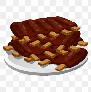 The Ribs On The Plate - Spare Ribs Barbecue Grill Barbecue Sauce Clip Art PNG