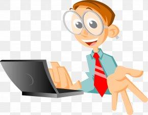 Notebook Vector White-collar Jobs - Laptop The Computer Man PNG