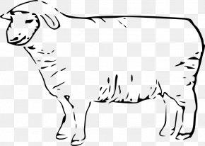 Sheep - Sheep Line Art Clip Art PNG