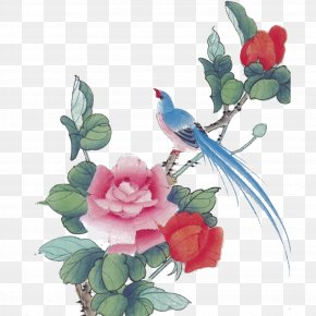Birds And Flowers - Chinese Painting Bird-and-flower Painting Ink Wash Painting PNG