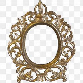 Vintage - Picture Frames Oval Decorative Arts Antique Wood PNG