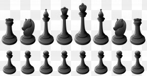Chess - Chess Piece Chessboard White And Black In Chess Clip Art PNG