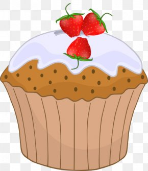 Strawberry Cupcake - Muffin Cupcake Mother Clip Art PNG