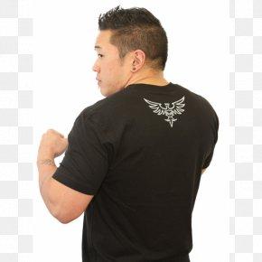 T-shirt - T-shirt Black M Sleeve Mixed Martial Arts Clothing PNG