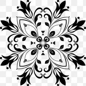 Snowflake Round Frame - Floral Design Interior Design Services Clip Art PNG