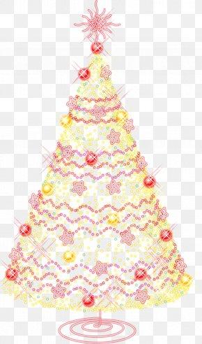 Watercolor Christmas Tree - Santa Claus Christmas Tree Wedding Invitation Clip Art PNG