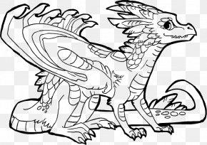 Dragon - Line Art Drawing DeviantArt Dragon PNG