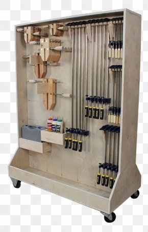 Wood Tool Box - Pipe Clamp Woodworking Tool Plan PNG