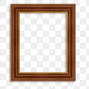 Deluxe Wood Frame - Picture Frame Window Digital Photo Frame Wood PNG