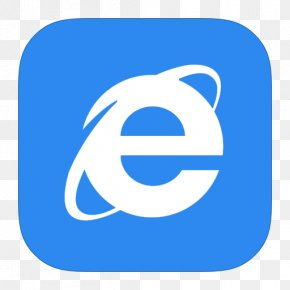 MetroUI Browser Internet Explorer 10 - Blue Area Text Symbol PNG