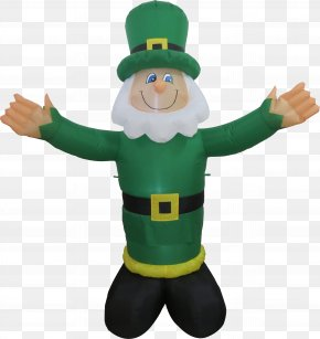Saint Patrick's Day - Leprechaun Saint Patrick's Day Inflatable Clover Shamrock PNG