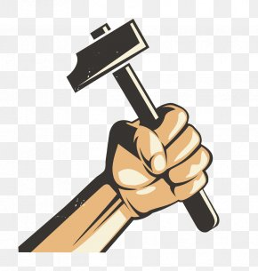 Workers Power Hammer - United States Stock Photography Made In USA Vintage Clothing PNG