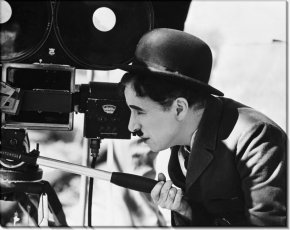 Charlie Chaplin - Charlie Chaplin The Tramp Modern Times Camera Desktop Wallpaper PNG