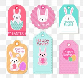 Easter Bunny Logo Vector Material - Easter Egg Computer File PNG