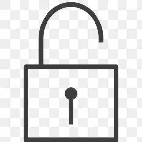 Unlocked - Area Lock Symbol Hardware Accessory PNG