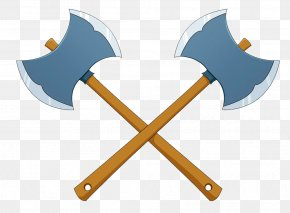 Two Ax - Axe Cartoon Animation PNG