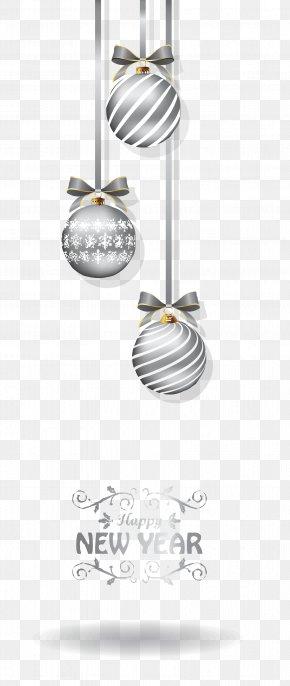 Christmas Silver Lob Vector - Christmas Euclidean Vector Computer File PNG