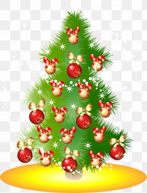 Green Christmas Tree Ornaments - Christmas Tree Euclidean Vector New Year Tree PNG