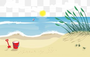 Sand On The Beach - Beach Sand Euclidean Vector Illustration PNG