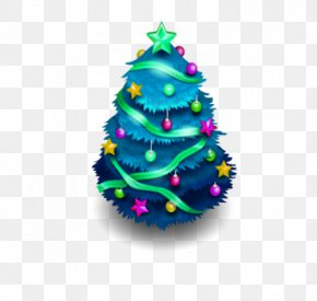 Blue Christmas Tree - Christmas Tree ICO Icon PNG