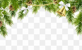 Christmas Pine Decor With Ornaments Clip Art Image - Christmas Decoration Christmas Ornament Clip Art PNG