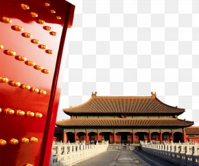 Beijing Red Gate And The Imperial Palace - Forbidden City Tiananmen Square Temple Of Heaven Beihai Park Hall Of Supreme Harmony PNG