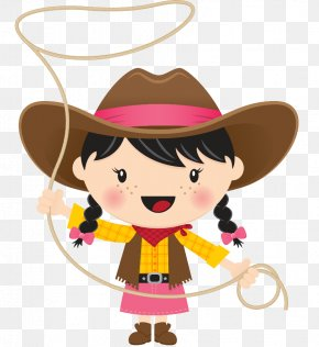 Cowboy Woman On Top Clip Art PNG