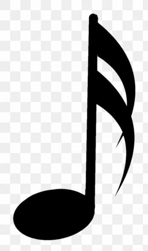 Blackandwhite Eighth Note - Music Note PNG