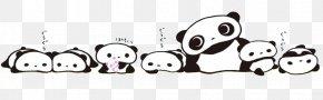 Panda Family - Giant Panda Tarepanda Baby Pandas Bear PNG