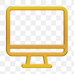 Computer Icon Yellow - App Icon Basic Icon Interface Icon PNG