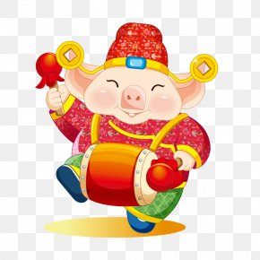 Lucky Pig - Chinese Zodiac Chinese New Year Domestic Pig PNG
