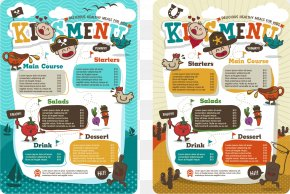 Vector Children's Menu - Menu Kids Meal Drawing Child PNG