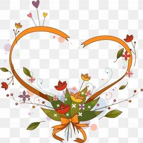 Love Flowers Green Leaves - Love Floral Design Flower PNG