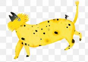 Cartoon Yellow Monster - Dog Cartoon Graphic Design Designer Illustration PNG