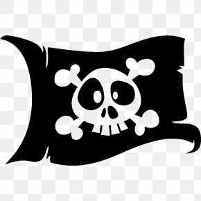 Flag - Jolly Roger Flag Piracy Skull And Crossbones Clip Art PNG