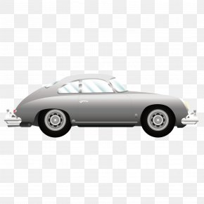 Vector Car Black Classical Vehicle - Porsche 356 Classic Car Vehicle PNG