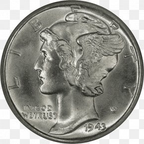 Coin - Mercury Dime Coin Walking Liberty Half Dollar United States Mint PNG