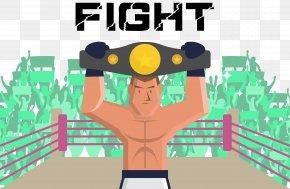 Gold Belt Game Vector - Boxing Fight Illustration PNG